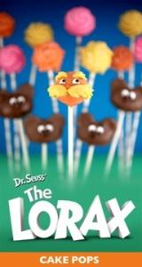 Dr. Seuss cake pops