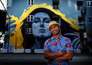 Downtown muralist Robert Vargas